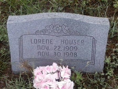 HOUSER, LORENE  - Young County, Texas | LORENE  HOUSER - Texas Gravestone Photos