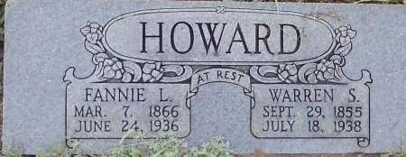HOWARD, FANNIE L - Young County, Texas | FANNIE L HOWARD - Texas Gravestone Photos