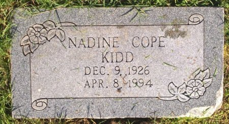 COPE KIDD, NADINE - Young County, Texas | NADINE COPE KIDD - Texas Gravestone Photos