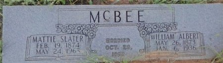 SLATER MCBEE, MATTIE - Young County, Texas | MATTIE SLATER MCBEE - Texas Gravestone Photos