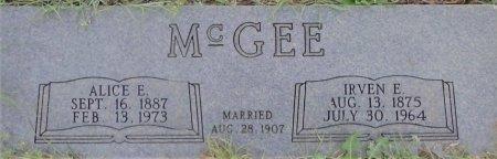 MCGEE, ALICE E - Young County, Texas | ALICE E MCGEE - Texas Gravestone Photos