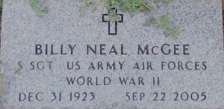 MCGEE (VETERAN WWII), BILLY NEAL  - Young County, Texas   BILLY NEAL  MCGEE (VETERAN WWII) - Texas Gravestone Photos