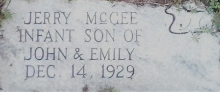 MCGEE, JERRY - Young County, Texas | JERRY MCGEE - Texas Gravestone Photos