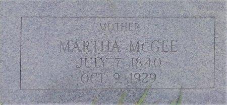 MCGEE MCGEE, MARTHA - Young County, Texas | MARTHA MCGEE MCGEE - Texas Gravestone Photos