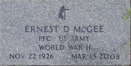 MCGEE (VETERAN 3 WARS), ERNEST D   - Young County, Texas | ERNEST D   MCGEE (VETERAN 3 WARS) - Texas Gravestone Photos