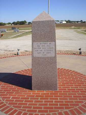 *MEMORIAL,  - Young County, Texas |  *MEMORIAL - Texas Gravestone Photos