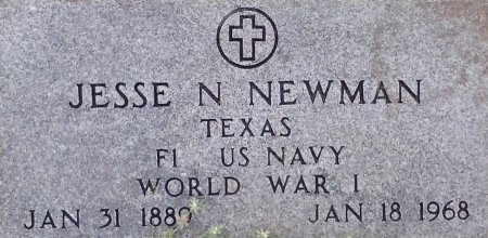 NEWMAN (VETERAN WWI), JESSIE N  - Young County, Texas | JESSIE N  NEWMAN (VETERAN WWI) - Texas Gravestone Photos