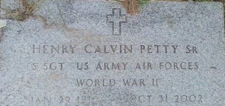 PETTY (VETERAN WWII), HENRY CALVIN  - Young County, Texas | HENRY CALVIN  PETTY (VETERAN WWII) - Texas Gravestone Photos