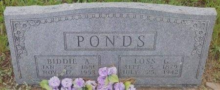 PONDS, LOSS G - Young County, Texas   LOSS G PONDS - Texas Gravestone Photos