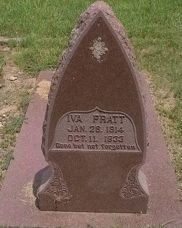 PRATT, IVA IDA - Young County, Texas | IVA IDA PRATT - Texas Gravestone Photos