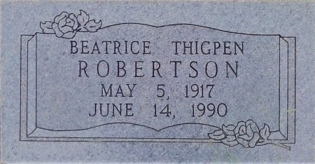 THIGPEN ROBERTSON, BEATRICE - Young County, Texas | BEATRICE THIGPEN ROBERTSON - Texas Gravestone Photos