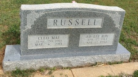 """RUSSELL, ED LEE """"ROY"""" - Young County, Texas 