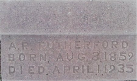 RUTHERFORD, A R - Young County, Texas | A R RUTHERFORD - Texas Gravestone Photos