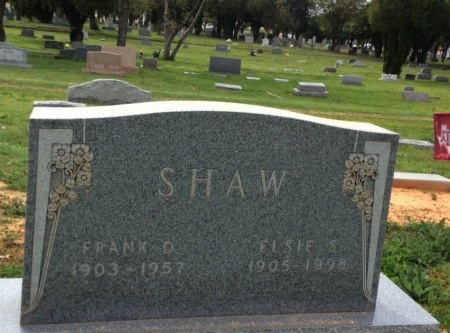 SHAW, ELSIE S. - Young County, Texas | ELSIE S. SHAW - Texas Gravestone Photos