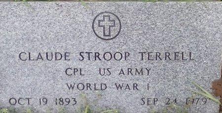 TERRELL (VETERAN WWI), CLAUDE STROOP - Young County, Texas | CLAUDE STROOP TERRELL (VETERAN WWI) - Texas Gravestone Photos