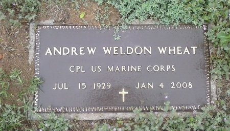 WHEAT (VETERAN), ANDREW WELDON  - Young County, Texas | ANDREW WELDON  WHEAT (VETERAN) - Texas Gravestone Photos