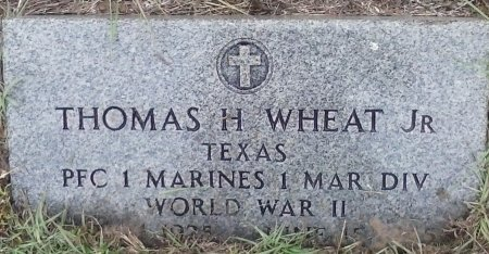 WHEAT, JR (VETERAN  WWII), THOMAS H - Young County, Texas | THOMAS H WHEAT, JR (VETERAN  WWII) - Texas Gravestone Photos