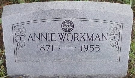 YOUNGBLOOD WORKMAN, ANNIE - Young County, Texas | ANNIE YOUNGBLOOD WORKMAN - Texas Gravestone Photos