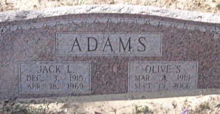 ADAMS, OLIVE S. - Zavala County, Texas | OLIVE S. ADAMS - Texas Gravestone Photos