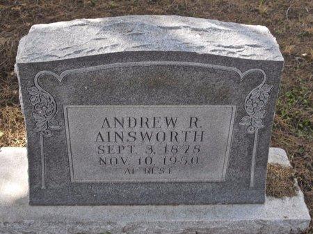 AINSWORTH, ANDREW R. - Zavala County, Texas | ANDREW R. AINSWORTH - Texas Gravestone Photos