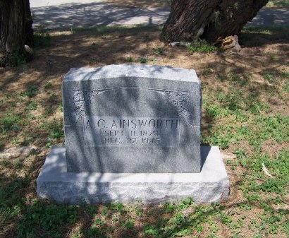 AINSWORTH, A.C. - Zavala County, Texas | A.C. AINSWORTH - Texas Gravestone Photos