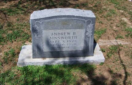 AINSWROTH, ANDREW R. - Zavala County, Texas | ANDREW R. AINSWROTH - Texas Gravestone Photos