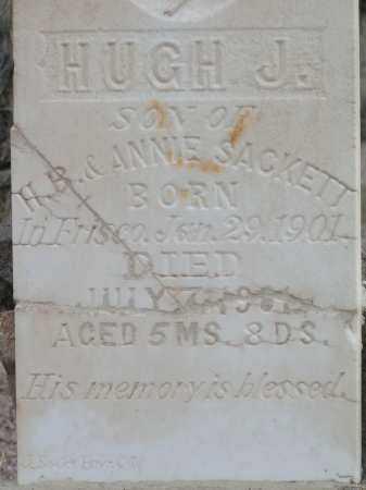 SACKETT, HUGH JANNINGS - Beaver County, Utah | HUGH JANNINGS SACKETT - Utah Gravestone Photos