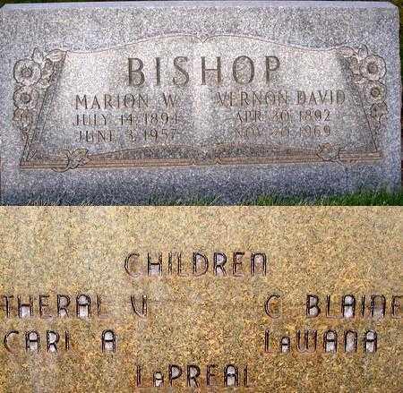 BISHOP, VERNON DAVID - Box Elder County, Utah | VERNON DAVID BISHOP - Utah Gravestone Photos