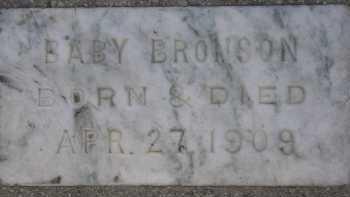 BRONSON, BABY - Box Elder County, Utah   BABY BRONSON - Utah Gravestone Photos