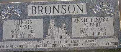 EGBERT BRONSON, ANNIE ELNORA - Box Elder County, Utah | ANNIE ELNORA EGBERT BRONSON - Utah Gravestone Photos