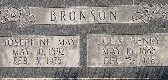EARL BRONSON, JOSEPHINE MAY - Box Elder County, Utah | JOSEPHINE MAY EARL BRONSON - Utah Gravestone Photos