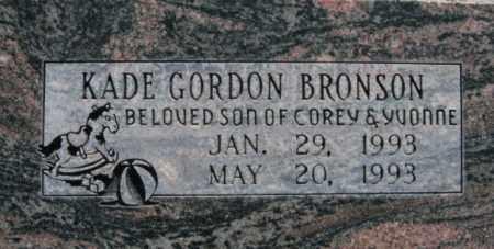 BRONSON, KADE GORDON - Box Elder County, Utah | KADE GORDON BRONSON - Utah Gravestone Photos