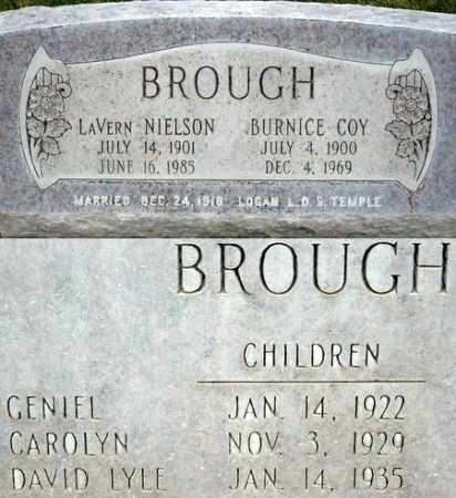 BROUGH, BURNICE COY - Box Elder County, Utah | BURNICE COY BROUGH - Utah Gravestone Photos