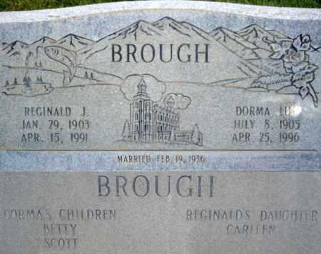 BROUGH, REGINALD J. - Box Elder County, Utah | REGINALD J. BROUGH - Utah Gravestone Photos