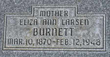 BURNETT, ELIZA ANN - Box Elder County, Utah   ELIZA ANN BURNETT - Utah Gravestone Photos