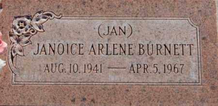 BURNETT, JANOICE ARLENE - Box Elder County, Utah | JANOICE ARLENE BURNETT - Utah Gravestone Photos