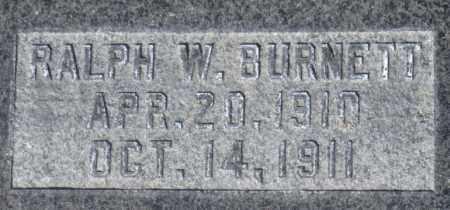 BURNETT, RALPH WILLIAM - Box Elder County, Utah | RALPH WILLIAM BURNETT - Utah Gravestone Photos