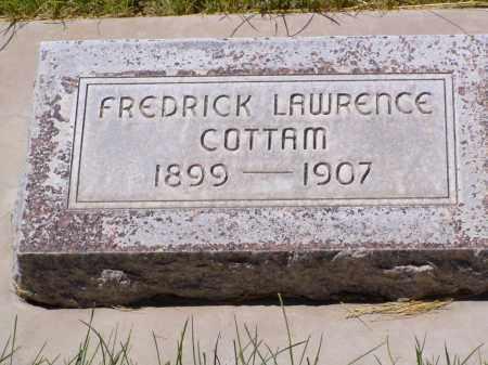 COTTAM, FREDRICK LAWRENCE - Box Elder County, Utah   FREDRICK LAWRENCE COTTAM - Utah Gravestone Photos