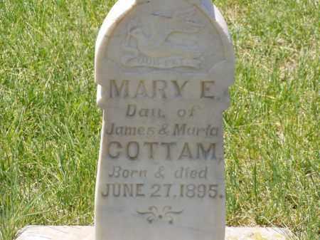 COTTAM, MARY E. - Box Elder County, Utah | MARY E. COTTAM - Utah Gravestone Photos