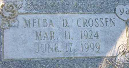 CROSSEN, MELBA DARLEEN - Box Elder County, Utah   MELBA DARLEEN CROSSEN - Utah Gravestone Photos