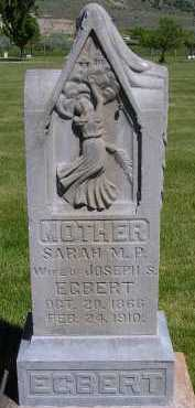 EGBERT, SARAH MCGHIE - Box Elder County, Utah | SARAH MCGHIE EGBERT - Utah Gravestone Photos