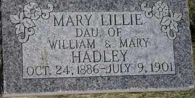 HADLEY, MARY LILLIE - Box Elder County, Utah | MARY LILLIE HADLEY - Utah Gravestone Photos