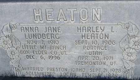 HEATON, HARLEY - Box Elder County, Utah | HARLEY HEATON - Utah Gravestone Photos