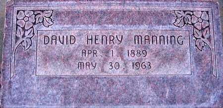 MANNING, DAVID HENRY - Box Elder County, Utah | DAVID HENRY MANNING - Utah Gravestone Photos
