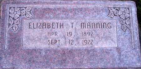 MANNING, ELIZABETH T. - Box Elder County, Utah | ELIZABETH T. MANNING - Utah Gravestone Photos