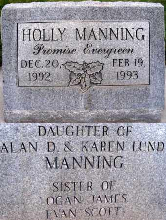 MANNING, HOLLY - Box Elder County, Utah | HOLLY MANNING - Utah Gravestone Photos