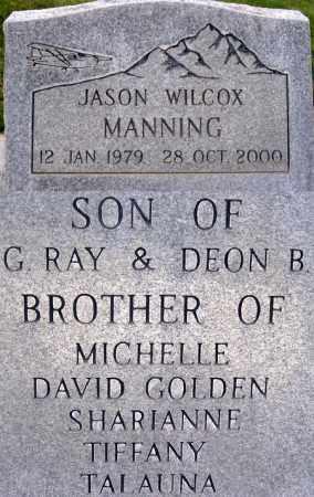 MANNING, JASON WILCOX - Box Elder County, Utah | JASON WILCOX MANNING - Utah Gravestone Photos