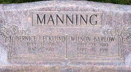 MANNING, BERNICE J. - Box Elder County, Utah | BERNICE J. MANNING - Utah Gravestone Photos