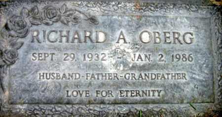 OBERG, RICHARD A. - Box Elder County, Utah | RICHARD A. OBERG - Utah Gravestone Photos