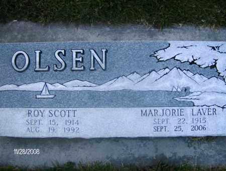 OLSEN, ROY SCOTT - Box Elder County, Utah | ROY SCOTT OLSEN - Utah Gravestone Photos